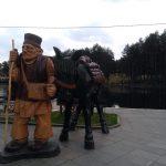 """Skulptura """"Zlatibоrski brzi vоz """""""